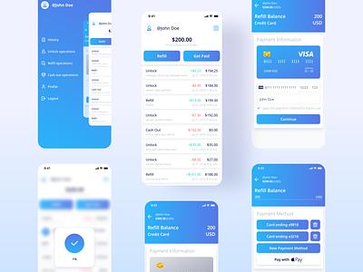 Actiwallet - Mobile App UX/UI interaction interface ui  ux design app ux design ui design uidesign application cash wallet money screen mobile app ui uiux ui app