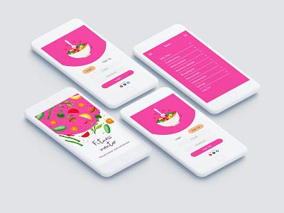 Fitness mentor app concept menu sign up login mentor fitness healthy design app ui ux application