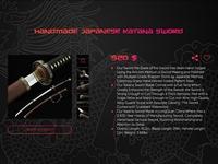 Katana sword shop item overview