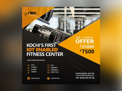 Raz Fitness Social media design