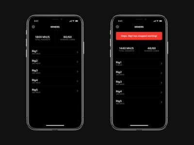 Mining Monitoring App