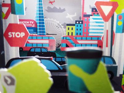 'Peep Show' Paper Engineering Pop Up Card set setdesign card popup engineering papercraft paper jungle illustration design