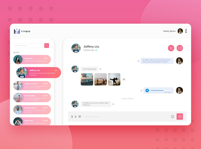 Direct Messaging Concept 013 dailyui013 directmessaging directmessage adobexd adobe illustrator web app ux interface ui dailyuichallenge dailyui design