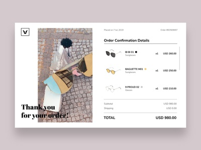 Email Receipt Concept