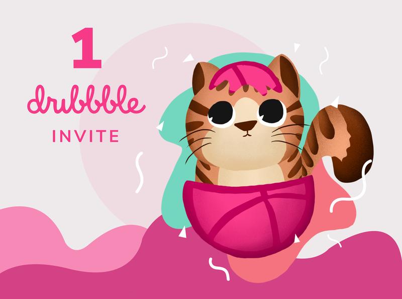Dribbble Invitation dribbble invite dribbble invitation procreate invite illustration design