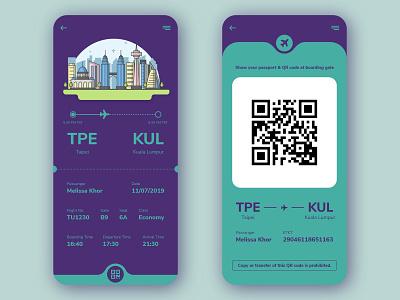 Boarding Pass Concept flightticket boarding pass 024 dailyui024 adobexd ios app ux interface ui dailyuichallenge dailyui design