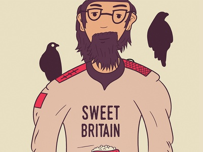 Sweet Britain - Editorial project creative articles editorial england illustration character cartoon retro magazine