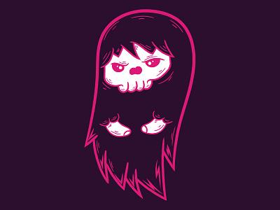 Ghost animal - T shirt design t-shirt draw design style fun doodle vector creative illustration