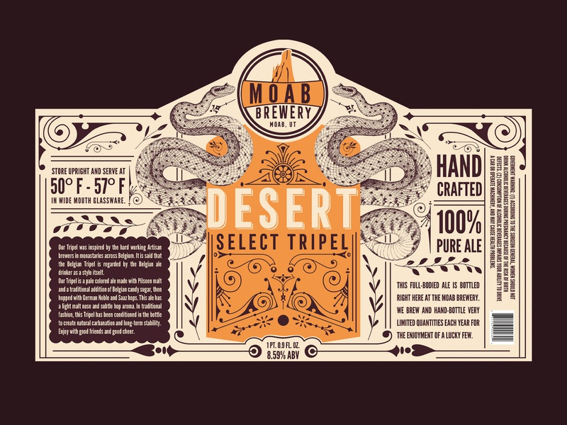 Moab Brewery Concept branding graphic design beer label