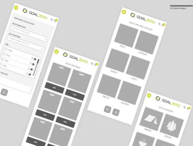 Yeti Ready Wireframe ux design app  design ui