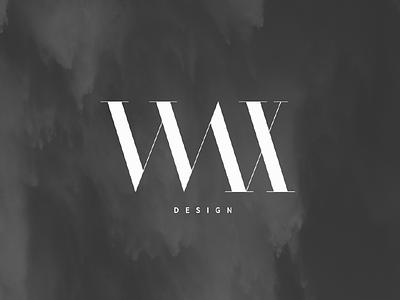 Wax Design simple minimalistic wax designer design logo