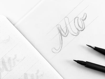 MO Monogram sketch monogram mo design logo