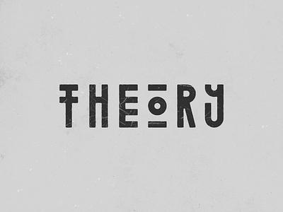 Theory rough vintage typography design logo