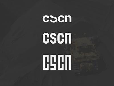 CSCN Logo Explorations monogram simple mark cscn branding design logo