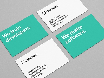 Oakfusion business cards