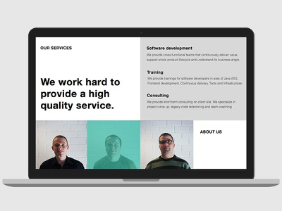 Oakfusion web design website layout grid