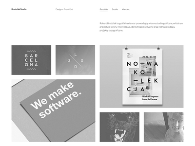 Brodziak Studio web design website layout grid portfolio