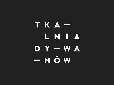 Tkalnia  logotype logo grid