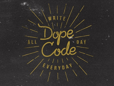 All day typography lettering type