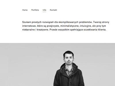 About layout web design minimal