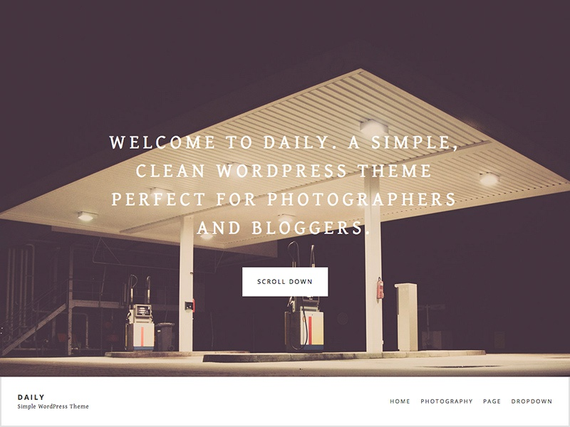 Daily - Free WordPress Theme free theme template wordpress freebie website