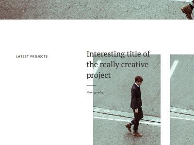 Sneak peek website layout template wordpress typography type minimal clean editorial