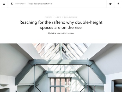 The Spaces layout web design minimal clean white website