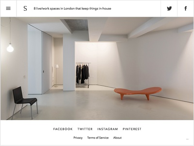 The Spaces - article ipad responsive website white clean minimal web design layout