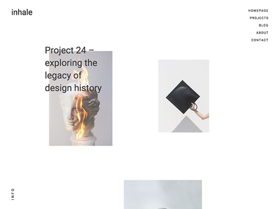 Break the rules portfolio theme wordpress layout web design minimal clean white website