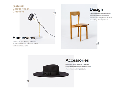 Explorations minimal layout website webdesign