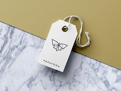 Papayona Logo fashion branding geometric print logo