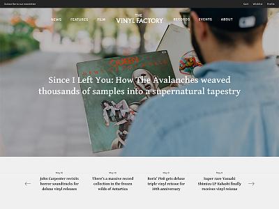 Vinyl Factory - Alternative approach music landing page minimal clean homepage