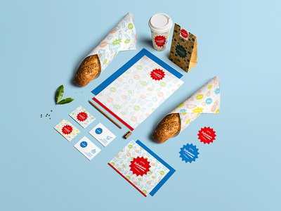 Gourmet Deli concept supermarket delicatessen illustration design packaging branding deli gourmet delicatessen