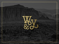 Wild & Yonder submark monogram brand mark explore club wild vintage outdoors submark brand logo
