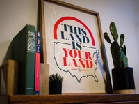 This Land Is Your Land poster craftpaper metallic ink nationalparks outdoors explore usa america typography screenprint vintage poster