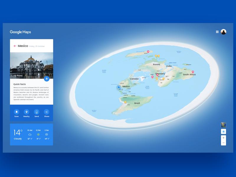 Corrected Planet Earth google maps earth flat