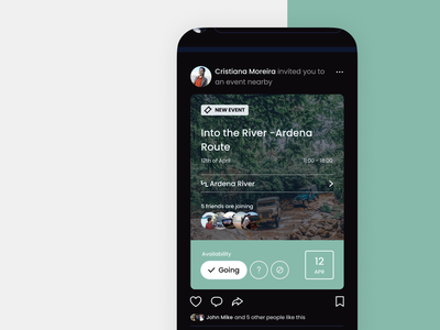 Mobile Design Social Network — Jeep Routes App mobile app mobile app design mobile ui product design product user interface gps route socialmedia socialnetwork card uiux ui app mobile jeep nature event