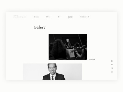 Conductor José Eduardo Gomes Site Redesign - Galery Page classical music music conductor ui desktop web galery user interface