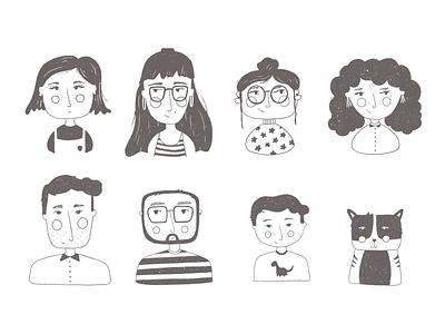 Portrait illustrations people illustration people family illustration face family portrait characters portrait
