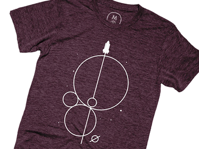 Crossing The Universe Geometrics illustration screenprint merchandise glow universe space vector minimal shirt