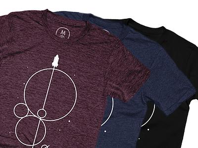 Crossing The Universe Geometrics (Glow T-Shirt) *Discount Code* cotton merchandise glow design apparel shirt minimal rocket space
