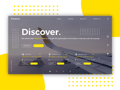 Travel.Co Home Page Concept travel website interface ux minimal web design design ui