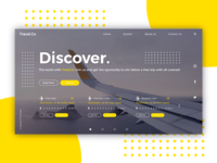 Travel.Co Home Page Concept