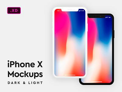 Dark & Light Iphone X Mockups (Free Download) free ui  ux design ux design appdesign store design adobexd mock up ux  ui ux ui minimal