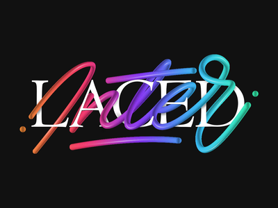 Interlaced Lettering handletter lettering typography adobe cc illustrator gradient photoshop design