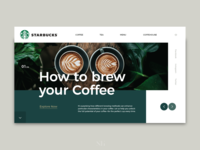Starbucks Rebranding Web Design/ Presonal project