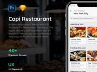 Free Mockup | Capi Restaurant Ios Ui Kit