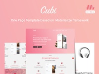 Cubi : A free template based on Materialize