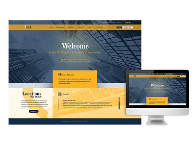 CLA Mockup homepage desktop lawyers