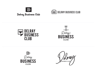 Delray Business Club networking logo business